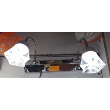Aplica LED 2W Suport Nichelat 2 Spoturi LZ7908