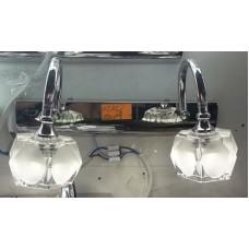 Aplica LED 2W Suport Nichelat 2 Spoturi LZ7276