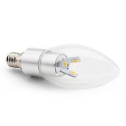 Bec LED E14 3w Lumanare Clar Argintiu