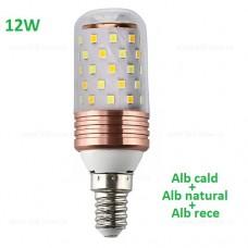 Bec LED E14 12W Corn 360 Grade 3 Functii