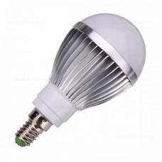 Bec LED E14 7W Glob Mat Aluminiu