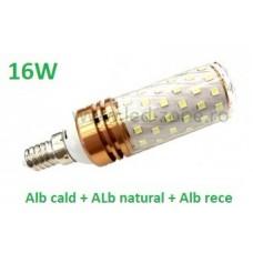 Bec LED E14 16W Corn 360 Grade 3 Functii