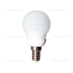 Bec LED E14 3W Glob Mat Ceramica G45