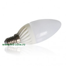 Bec LED E14 3W Lumanare Mat Ceramica