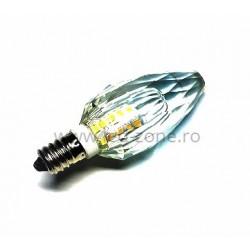 Bec LED E14 3W Lumanare Model Cristal