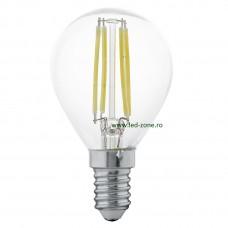 Bec LED E14 4W Filament Glob Clar G45