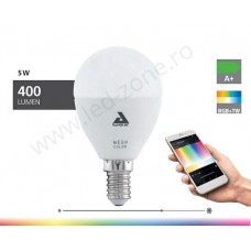 Bec LED E14 5W Glob Mat RGB + White Premium