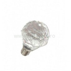 Bec LED E14 5W Glob Model Cristal