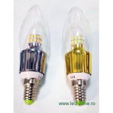 Bec LED E14 5W Lumanare Clar Dimabil