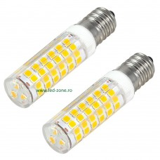 Bec LED E14 5W Corn Ceramica