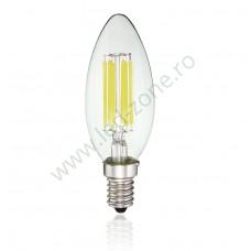 Bec LED E14 6W Filament Lumanare Clar