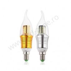 Bec LED E14 9W Flacara Clar