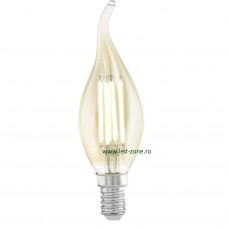 Bec LED Vintage E14 4W Flacara F35