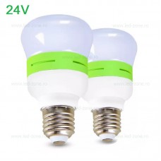 Bec LED E27 7W Mat Plastic 24V