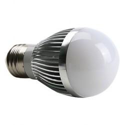 Bec LED E27 3W Glob Mat Aluminiu