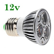 Bec Spot LED E27 3x1W Power LED 12V