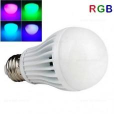 Bec LED E27 5W Glob Mat RGB