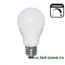Bec LED E27 5W Glob Mat Dimabil