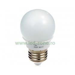 Bec LED E27 3W Iluminare 260 Grade Plastic