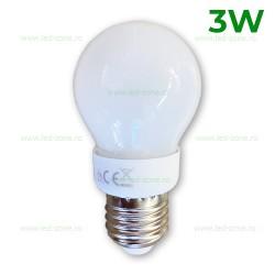 Bec LED E27 3W Glob Mat 300 Grade