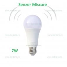 Bec LED E27 7W Glob Mat 260 Grade Senzor Miscare