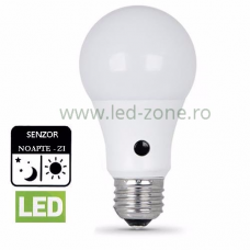 Bec LED E27 10W Senzor Zi-Noapte