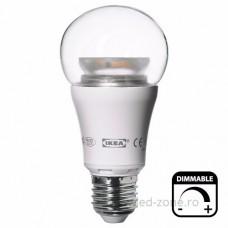 Bec LED E27 10W Glob Clar Dimabil