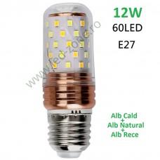 Bec LED E27 12W Corn 360 Grade 3 Functii