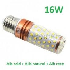 Bec LED E27 16W Corn 360 Grade 3 Functii