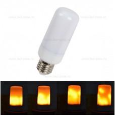 Bec LED E27 3W Cilindric Efect Flacara
