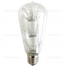 Bec LED E27 3W Para Clar ST64 RGB