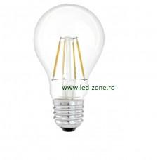 Bec LED E27 4W Filament Glob Clar A60