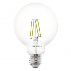 Bec LED E27 4W Filament Glob Clar G95