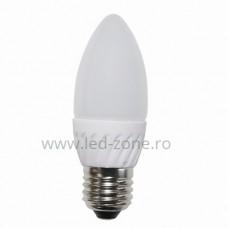 Bec LED E27 4W Lumanare Mat Ceramica
