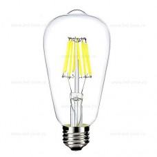 Bec LED E27 8W Filament Para Clar ST64