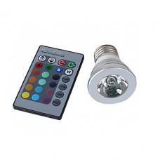 Bec Spot LED E27 3W RGB