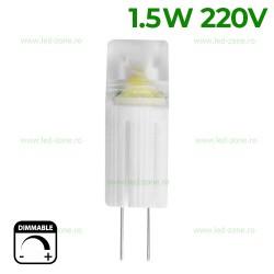 Bec LED G4 1.5W Corn Plastic 220V Dimabil