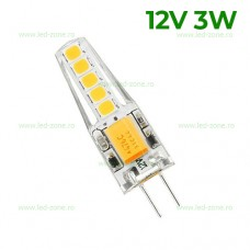Bec LED G4 3W SMD Silicon 12V