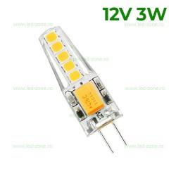 Bec LED G4 3W SMD Silicon 12V