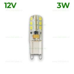 Bec LED G9 3W Corn Silicon 12V