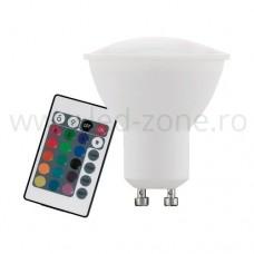 Bec Spot LED GU10 4W RGB cu Telecomanda