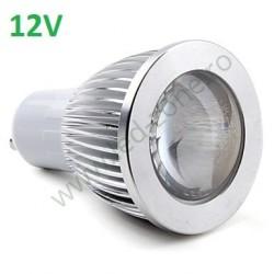 Bec Spot LED GU10 5W COB Lupa 12V