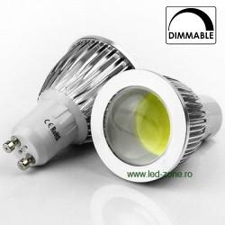 Bec Spot LED GU10 5W COB Lupa Dimabil