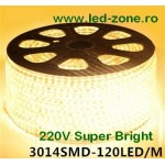 Banda LED 3014 120 SMD/ML Furtun Silicon 220V