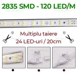 Banda LED 2835 120 SMD/ML 220V Superflux