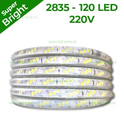 Banda LED 2835 120 SMD/ML 220V Super Bright