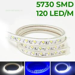 Banda LED 5730 120 SMD/ML 3 Functii 220V Blue