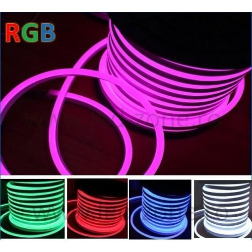 Furtun LED Neon Flex Slim 220V RGB - Led Zone - Magazin Online