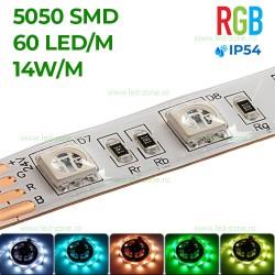 Banda LED 5050 60 SMD/ML RGB Silicon 24V