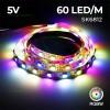 Banda LED 5050 60 SMD Interior Digitala RGBW 5V